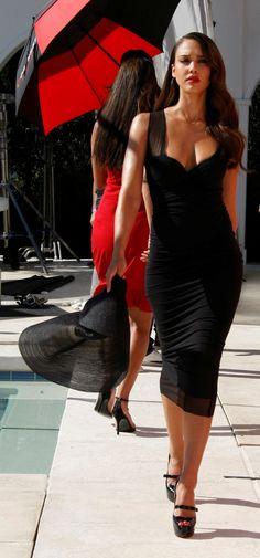 goddesstasha: Jessica Alba - Campari ad outtakes Goddess TashaOnly High Heels