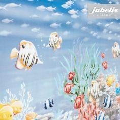 jubelis® Wachstuch Meterware mit Fischen und anderem Meerestieren auch als 20-Meter-Rolle lieferbar