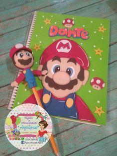 Libreta forrada de fomy y puntera tema Mario Bross Foam Crafts, Diy And Crafts, Feelings Preschool, Mario Party, Decorate Notebook, Super Mario Bros, So Little Time, Projects To Try, Doodles