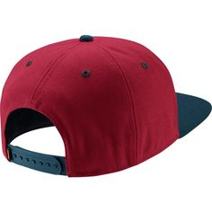 Nike SB Icon Snapback Cap rot blau weiß ($34) ❤ liked on Polyvore featuring accessories, hats, nike snapback, nike cap, snapback hats, snap back hats and snapback cap