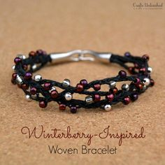 How to Make a Bracelet | Winterberry Inspired Woven Bracelet Tutorial By DIY Ready. http://diyready.com/diy-beaded-bracelets-you-should-be-making/#