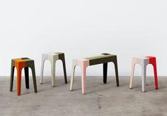 upholstered jib stools by peter marigold for kvadrat divina exhibit