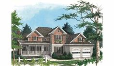 Farmhouse House Plan with 2484 Square Feet and 3 Bedrooms from Dream Home Source | House Plan Code DHSW23473