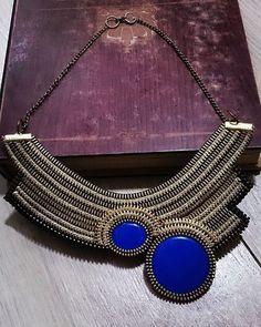 Zipper necklace Zipper jewelry Evening jewelry Original