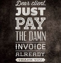 Pay your invoice of over 50k