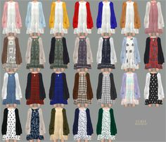 Lana CC Finds - sims4-marigold:   Spring Dress With Cardigan  long...