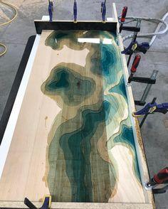 Getting close to completing the resin. #wip #design #contour #map #metal #metalfab #woodandsteel #woodandmetal #woodwork #wood #woodworking #handcrafted #customdesign #lake #metalwork #customfurniture #minnesota #minneapolis #water #nofilter #modern #landscape #reclaimed #resin #river #ash #coffeetable #topography #rivertable #nofilter