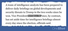 """Let's play a little game called """"Who's Actually The President?"""" http://www.biphoo.com/bipnews/news/trump-turning-away-intelligence-briefers-since-election-win.html"""