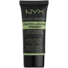 Nyx Studio Perfect Primer ($13) ❤ liked on Polyvore featuring beauty products, makeup, face makeup, makeup primer, beauty, green and nyx