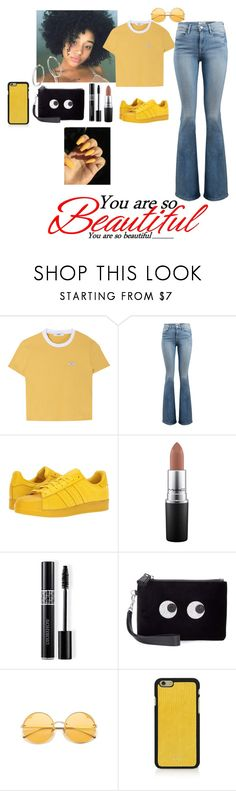 """you are so beautiful"" by nalawashington ❤ liked on Polyvore featuring Frame, adidas Originals, MAC Cosmetics, Christian Dior, Anya Hindmarch, Vianel and Bloomingdale's"