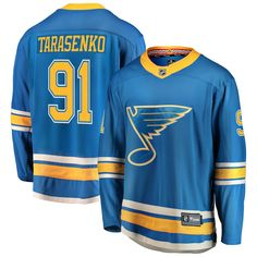Take your Blues support to the ice in this St Louis Blues Blue Mens Breakaway Alternate Hockey Jersey! Rally House has a great selection of new and exclusive St Louis Blues t-shirts, hats, gifts and apparel, in-store and online. Go Blue, Color Blue, Nhl Jerseys, St Louis Blues, New Saints, Adidas, Mens Tops, Clothes, Major League