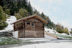 This small larch barn in the valley of Bagnes, Wallis in Switzerland, combines… Lausanne, Alpine House, Scandinavian Architecture, Agricultural Buildings, Swiss Chalet, Energy Efficient Homes, Wallis, Winter House, Modern Rustic