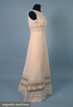 Augusta Auctions, April 2006 Vintage Clothing & Textile Auction, Lot 528: Pierre Balmain Couture Evening Gown, 1960s