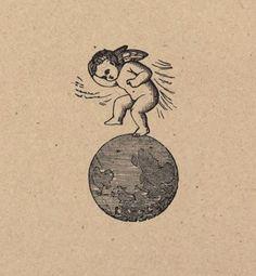 地球上の踏み天使。 都市の悪。 1891。