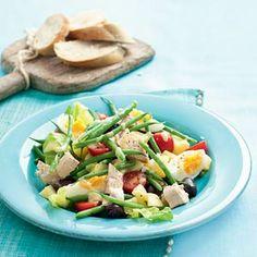 Salade niçoise Pasta Lunch, Salad Recipes, Healthy Recipes, Potato Salad, Main Dishes, Good Food, Favorite Recipes, Meat, Ethnic Recipes