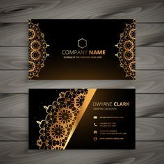 Luxury golden ornament business card vector design illustration PNG and Vector Luxury Business Cards, Simple Business Cards, Photography Business Card, Visiting Card Design, Ornaments Design, Calling Cards, Name Cards, Banner Design, Card Templates