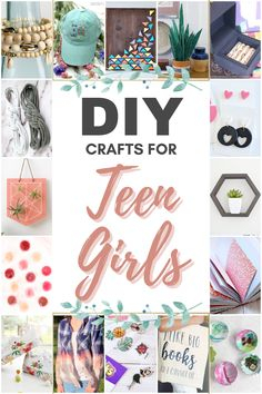 Updated! Now with over 30+ DIY crafts for teen girls. Find fashion, jewelry, home decor, outdoor diy, and more! #teen #teengirl #teencrafts #teenactivities Crafts To Make, Fun Crafts, Amazing Crafts, Creative Crafts, Decor Crafts, Creative Ideas, Diy Ideas, Diy Crafts For Teen Girls, Diy For Teens