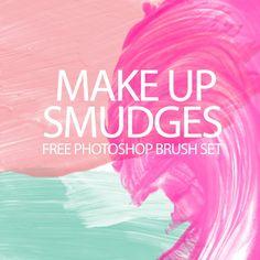makeup smudges thumb Make up smudges free Photoshop brush set
