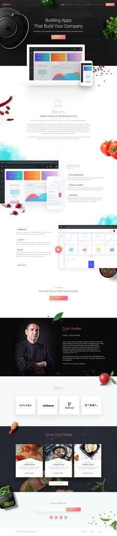 Food ordering app landing page