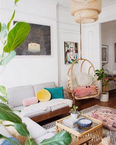 my scandinavian home: Mid-century meets Boho in a Brooklyn Home