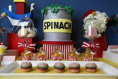 Popeye dessert table