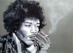 JImi Hendrix airbrush