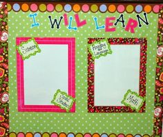 My objectives/standards bulletin board