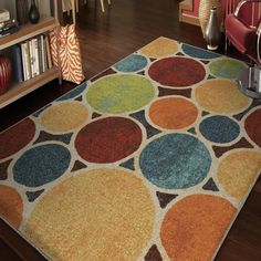 Vibrance Collection Sumptuous Multi Olefin Area Rug - Overstock™ Shopping - Great Deals on Carolina Weavers 5x8 - 6x9 Rugs