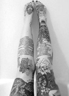 22 ideias bacanas de tatuagens Sleeve para as pernas