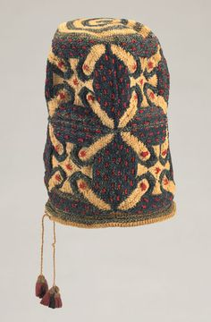 Africa | Bamileke peoples, Grasslands Region, Cameroon, Dignitary's Hat