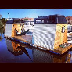 homemade houseboat new york