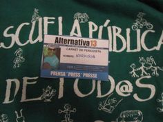 Alternativa 13 apuesta por la escuela pública Cover, Books, Printing Press, Journaling, Advertising, School, Libros, Book, Book Illustrations