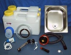Wasserversorgung Miniküche Set3 Küchenblock Reiseküche Wohnmobil Bus VW T3 T4 T5