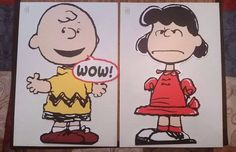 """Hallmark PEANUTS 50th Anniversary LUCY & CHARLIE BROWN LARGE 12"""" GREETING…"""