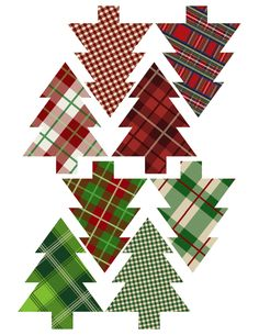 Plaid Christmas Tree Ornaments Printable - Paper Trail Design Happy New Year Christmas Tree Printable, Christmas Tree Template, Easy Christmas Ornaments, Tartan Christmas, Christmas Tree Art, Paper Ornaments, Christmas Paper, Christmas Tree Decorations, Christmas Crafts