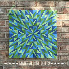 Faceted mini quilt by Amanda Castor of Material Girl Quilts using Riley Blakes Confetti Cottons