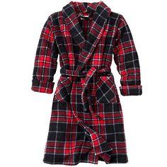 $20Urban Pipeline Plaid Fleece Robe - Boys