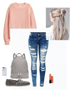 """""""Untitled #12"""" by sjjohnson0609 on Polyvore featuring TOMS, Michael Kors and MAC Cosmetics"""