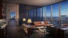 Apartamento New York, Built Environment, Condos, Houses, Interiors, Bts, Curtains, Architecture, Places