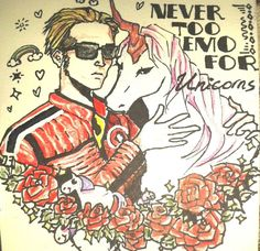 Mikey Way and His Unicorn by Ine-Z