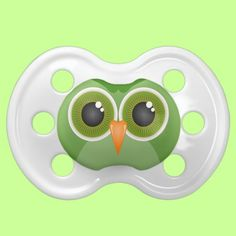 Green Owl Baby Pacifiers