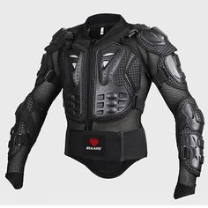 Black/RED Motorcycles Armor Protection Jacket