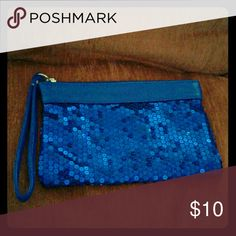 Clutch/wallet Royal Blue Other