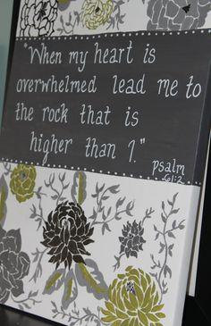 Custom Personalized Canvas. Scripture Verse by gloriartbybrooke