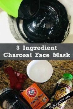 Charcoal Face Mask Recipe #facemask #charcoalmask #diybeauty #FaceScrubForBlackheads #CleansingMask Face Scrub Homemade, Homemade Face Masks, Diy Face Mask, Homemade Moisturizer, Charcoal Face Mask Peel, Diy Peeling, Cellulite Scrub, Face Mask For Blackheads, Diy Blog