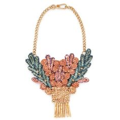 Raffia maxi-necklace