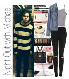 """Night Out with Michael"" by narryismybae ❤ liked on Polyvore featuring Topshop, Mulberry, Maria Francesca Pepe, Skinnydip, Proenza Schouler, NYX, Benefit, NARS Cosmetics, Boohoo and Bellini"