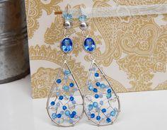 Something Blue Robin Earrings custom made by b.mookie