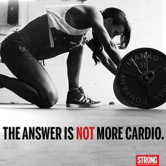 You can't grow muscle with cardio – flexible dieting and optimal training sport motivation Sport Motivation, Fitness Motivation Quotes, Fitness Goals, Fitness Tips, Crossfit Motivation, Gym Memes, Gym Humor, Health And Fitness Magazine, Health Fitness