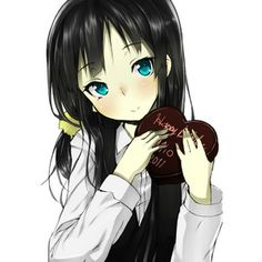 Anime girl with black hair and blue eyes - Google Search